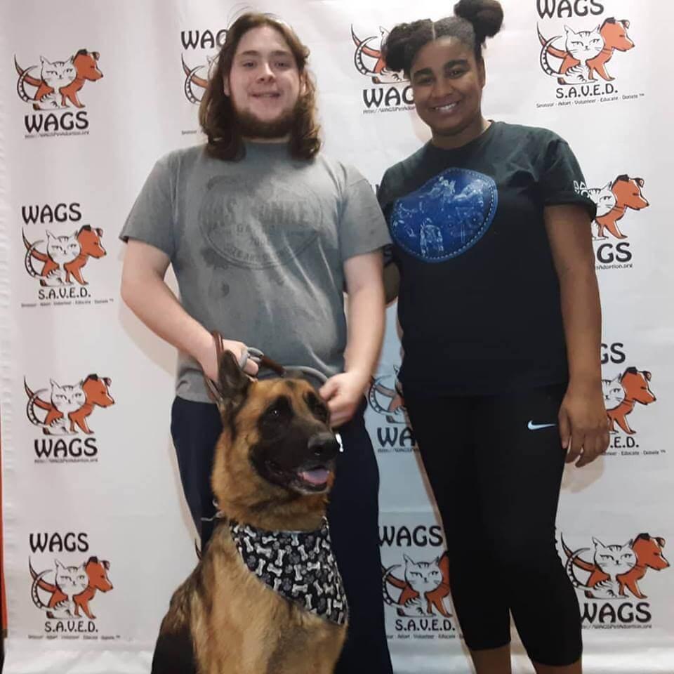 WAGS dog brandon adopted