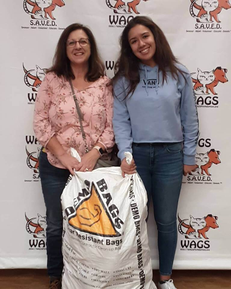 WAGS received donations