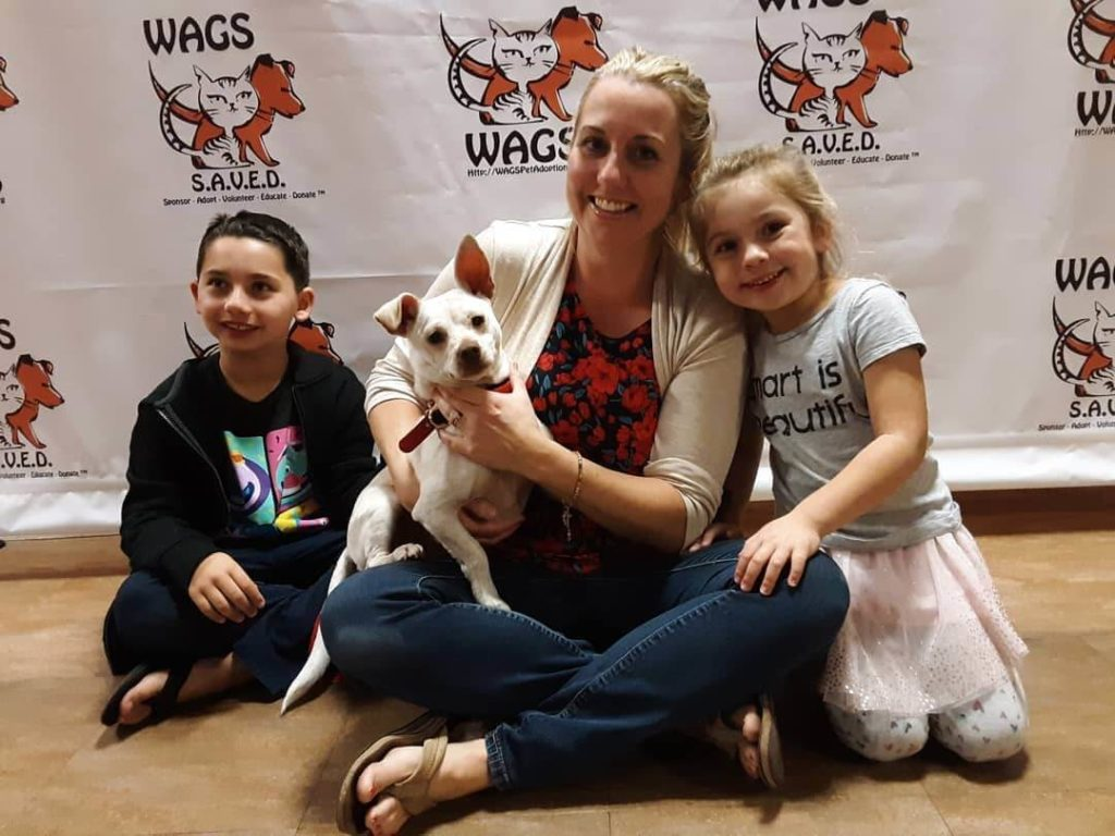 great kids and mom adopt a dog WAGS