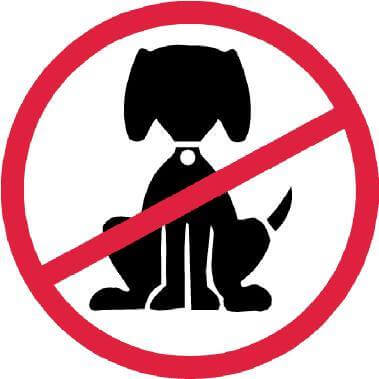 no pet sign