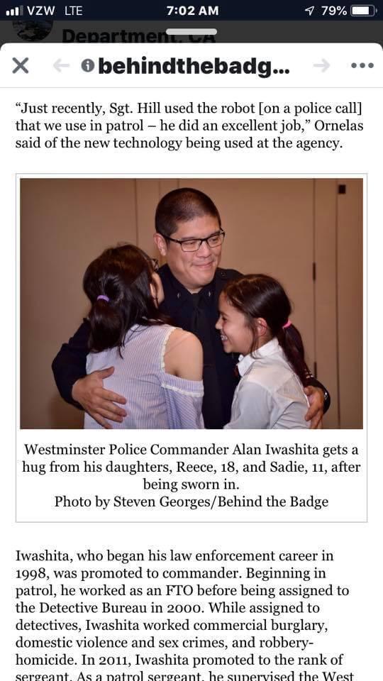 Westminster Police Animal Control Commander Alan Iwashita