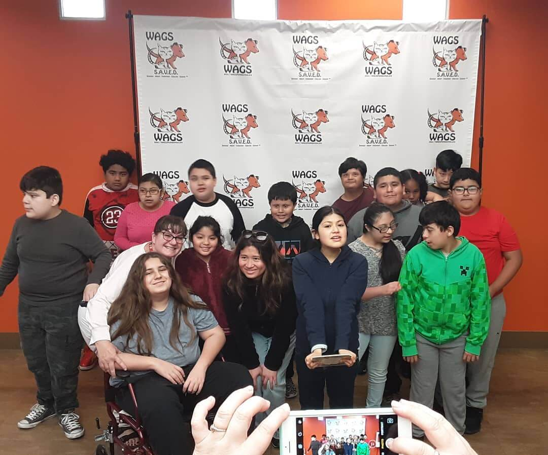 WAGS visited by Johnson Middle School
