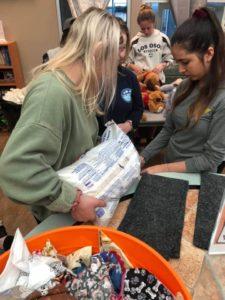 girl preparing for volunteer at wags
