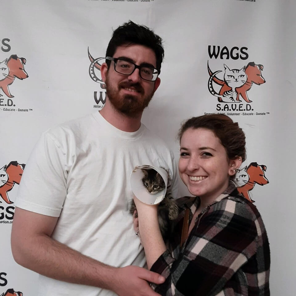 Bell was adopted today! WAGS