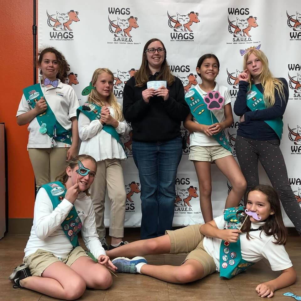 girl scout troop 3380 donated WAGS