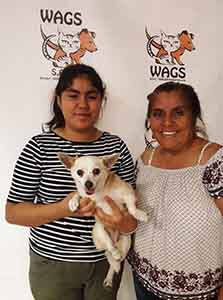 First adoption of the day is margo WAGS