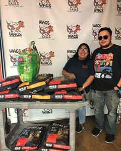 Thankyou for donating dog & cat food WAGS