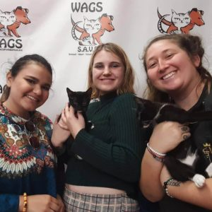 three girls adotped catas at wags