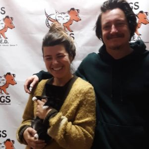 cat person-couple WAGS adoption holiday