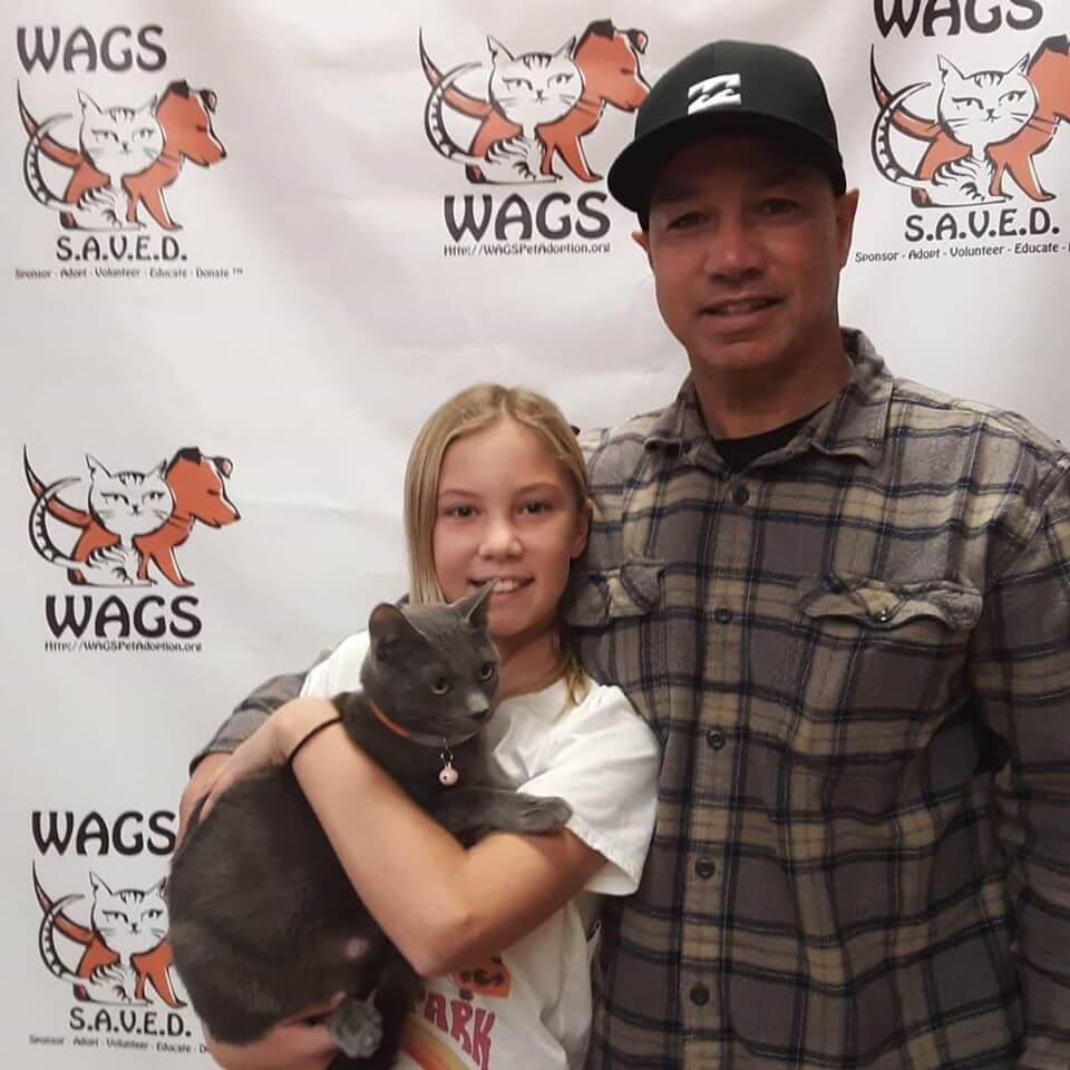 WAGS adoption day father and daughter